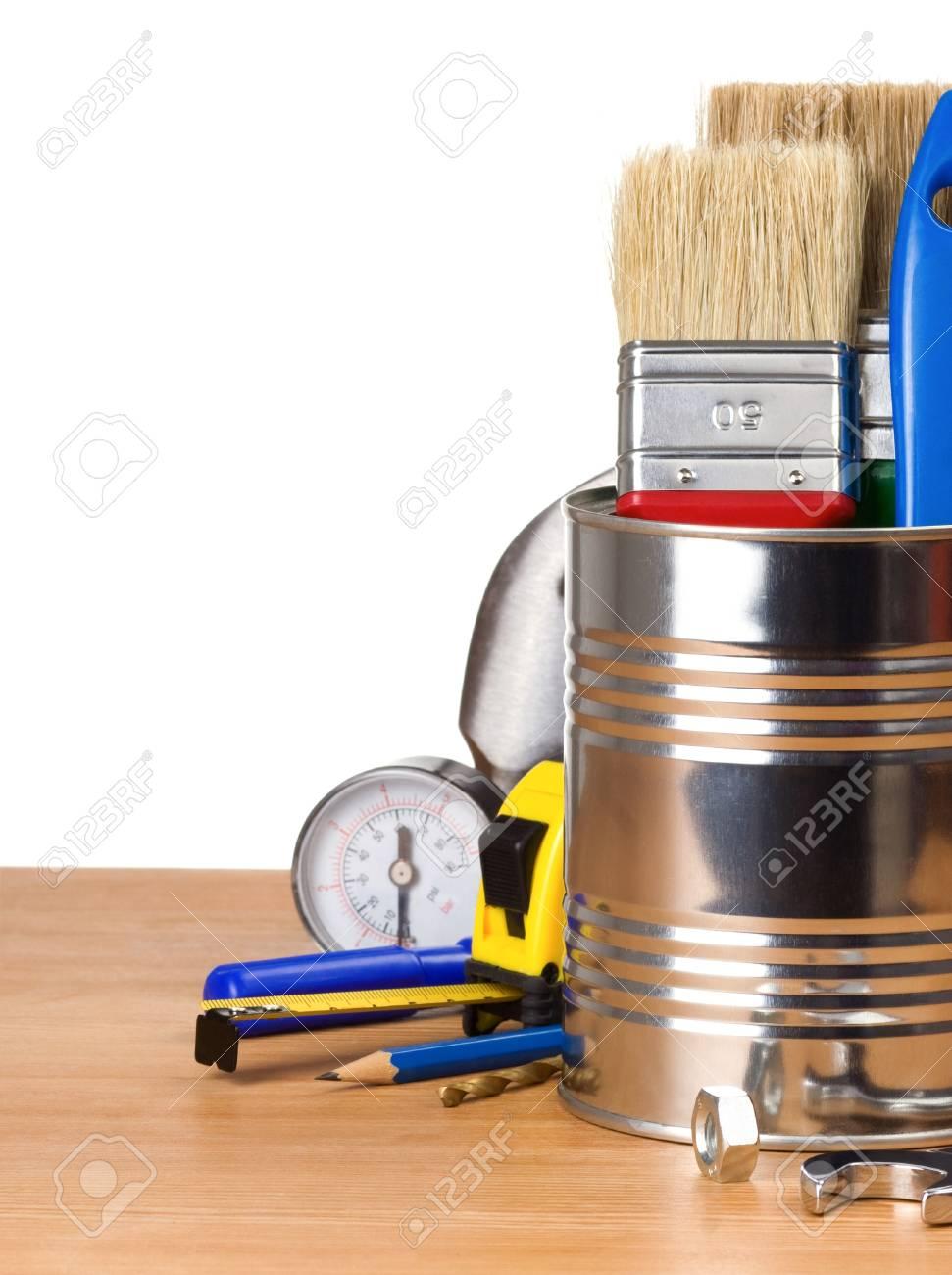 set of tools isolated on white background Stock Photo - 14383391