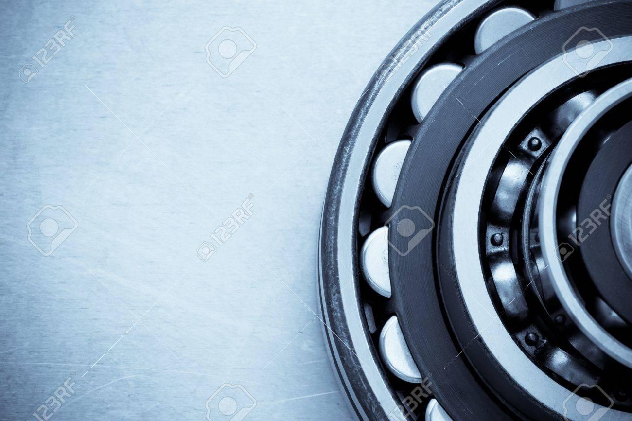 bearings at metal background - 19105428
