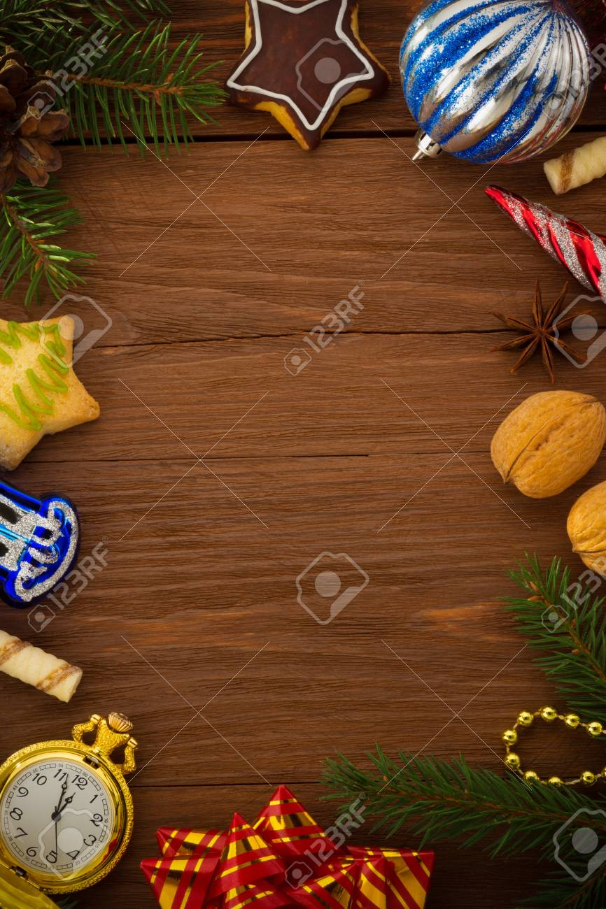 christmas concept on wood Stock Photo - 23698310