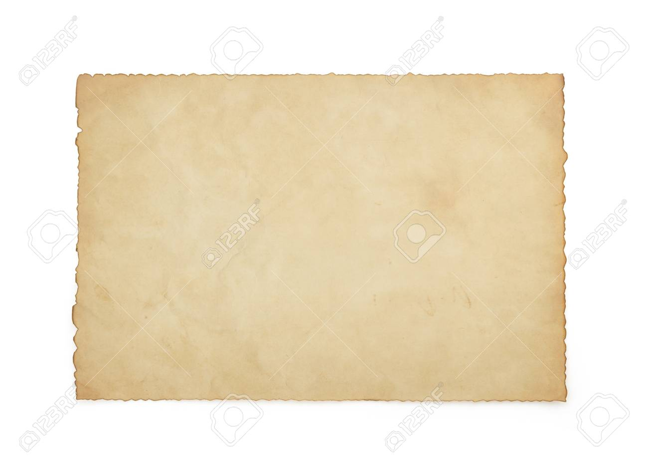paper vintage parchment isolated on white background - 25699430