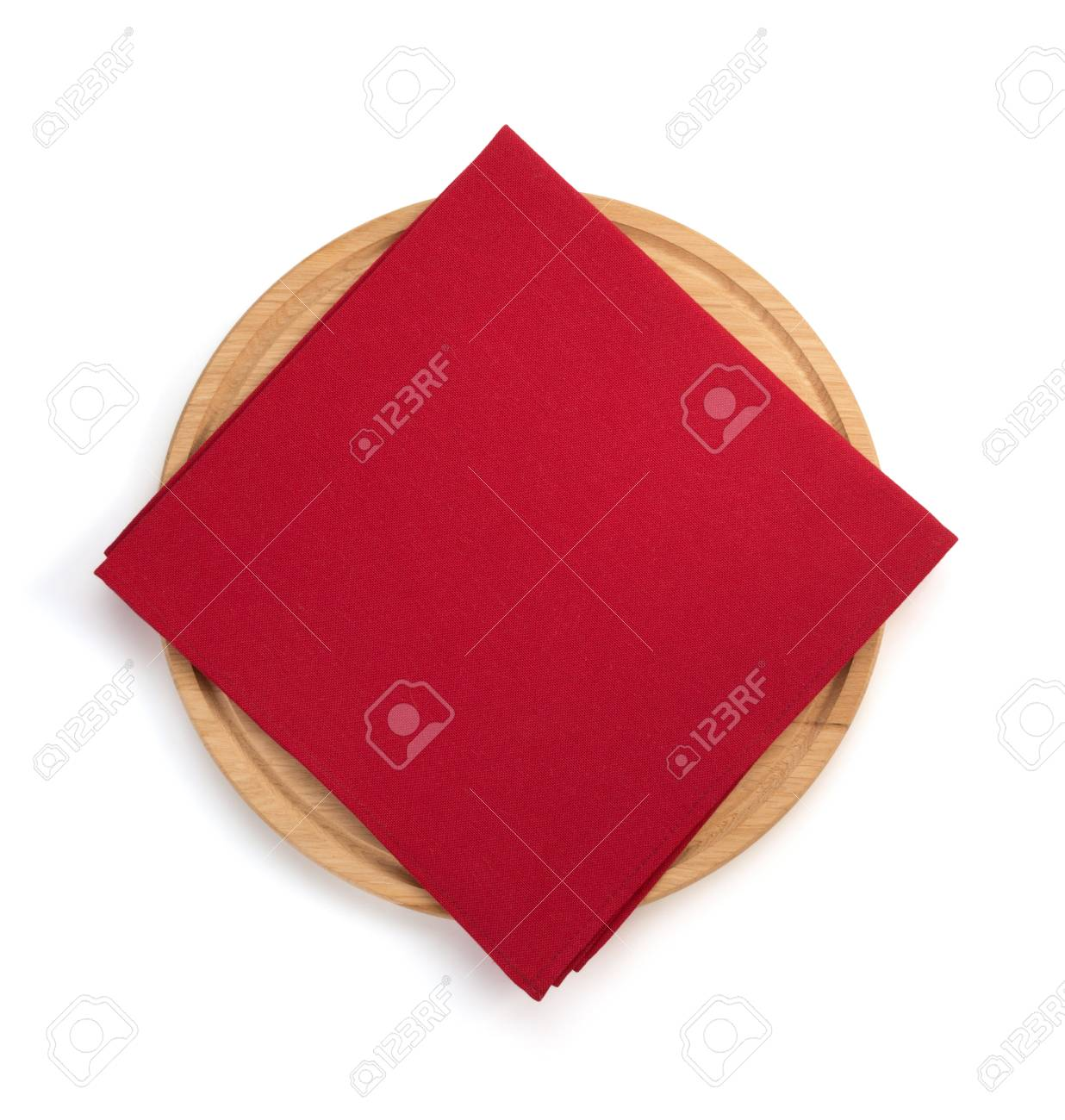 napkin at cutting board on white background - 43291054