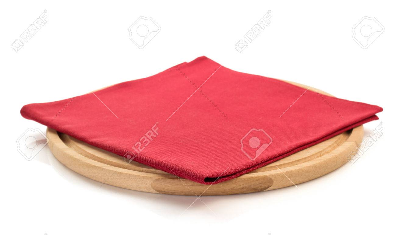 napkin and cutting board on white background - 45174251