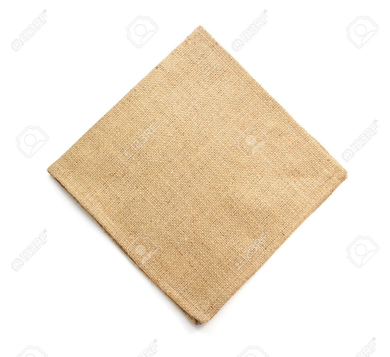 burlap hessian sacking isolated on white background - 45820867