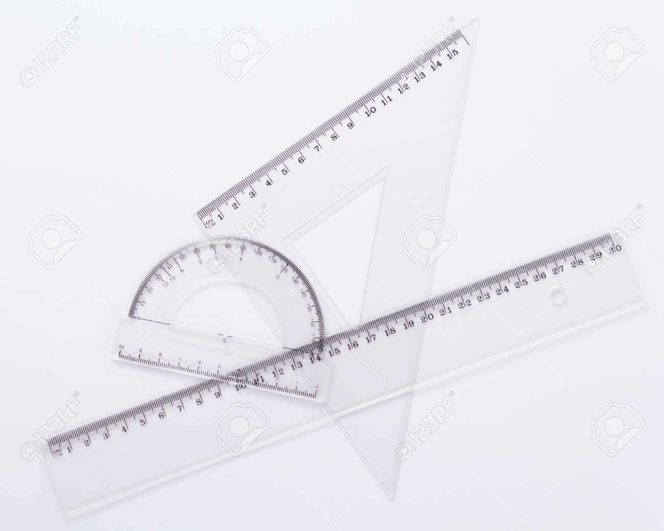 ruler metric at white background, top view - 122174890