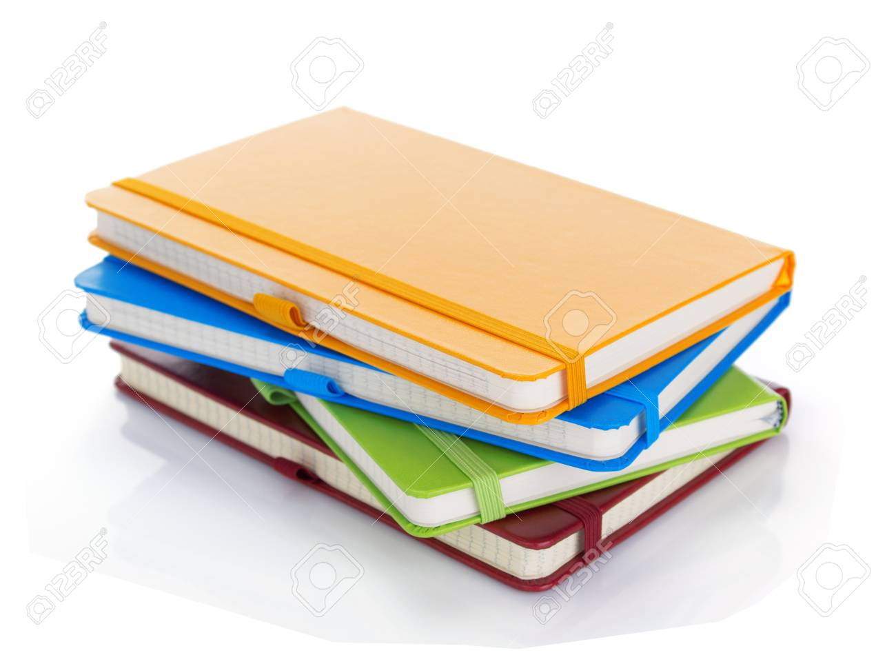 Notebook isolated at white - 124609077