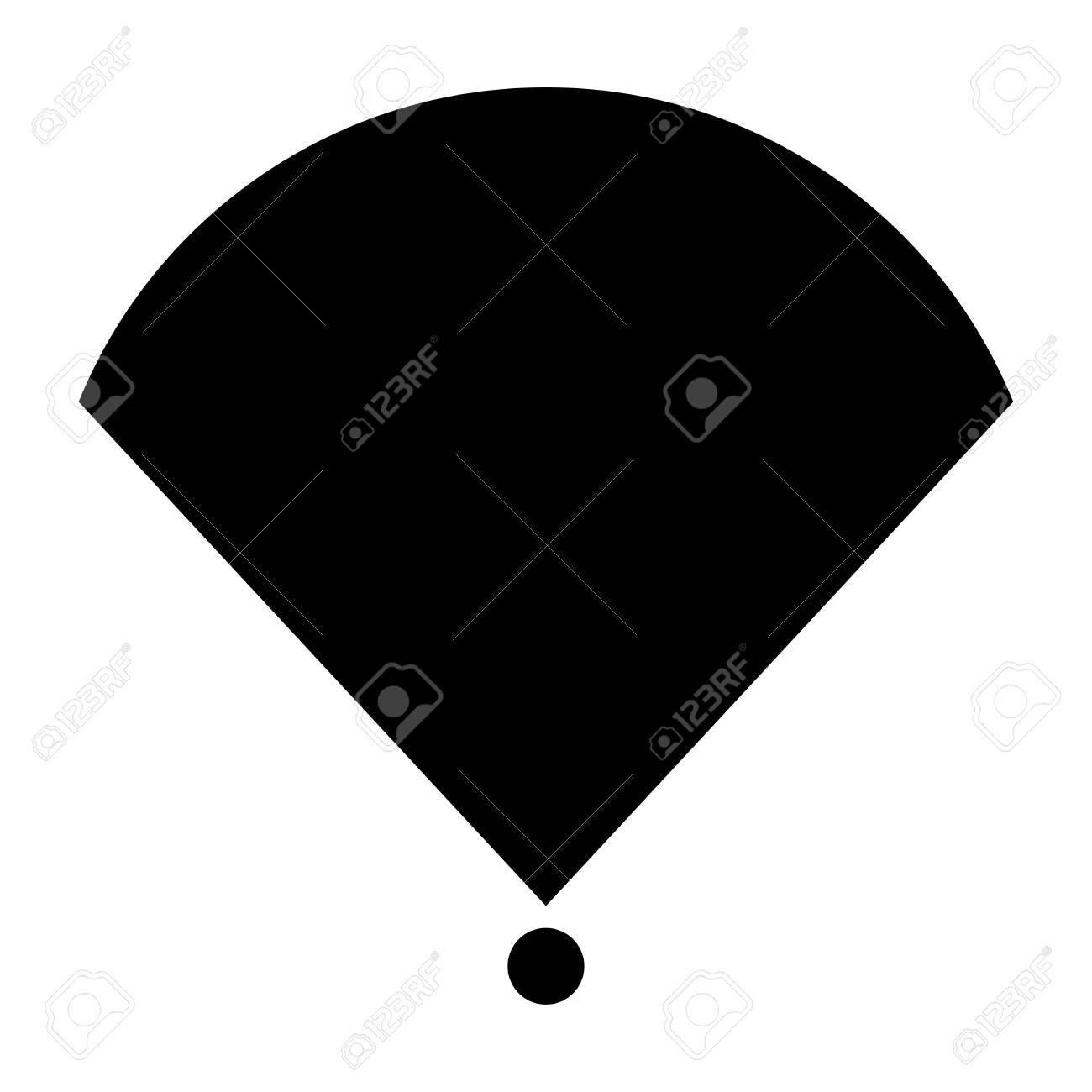 Location Or Radar Black Color Icon Royalty Free Cliparts