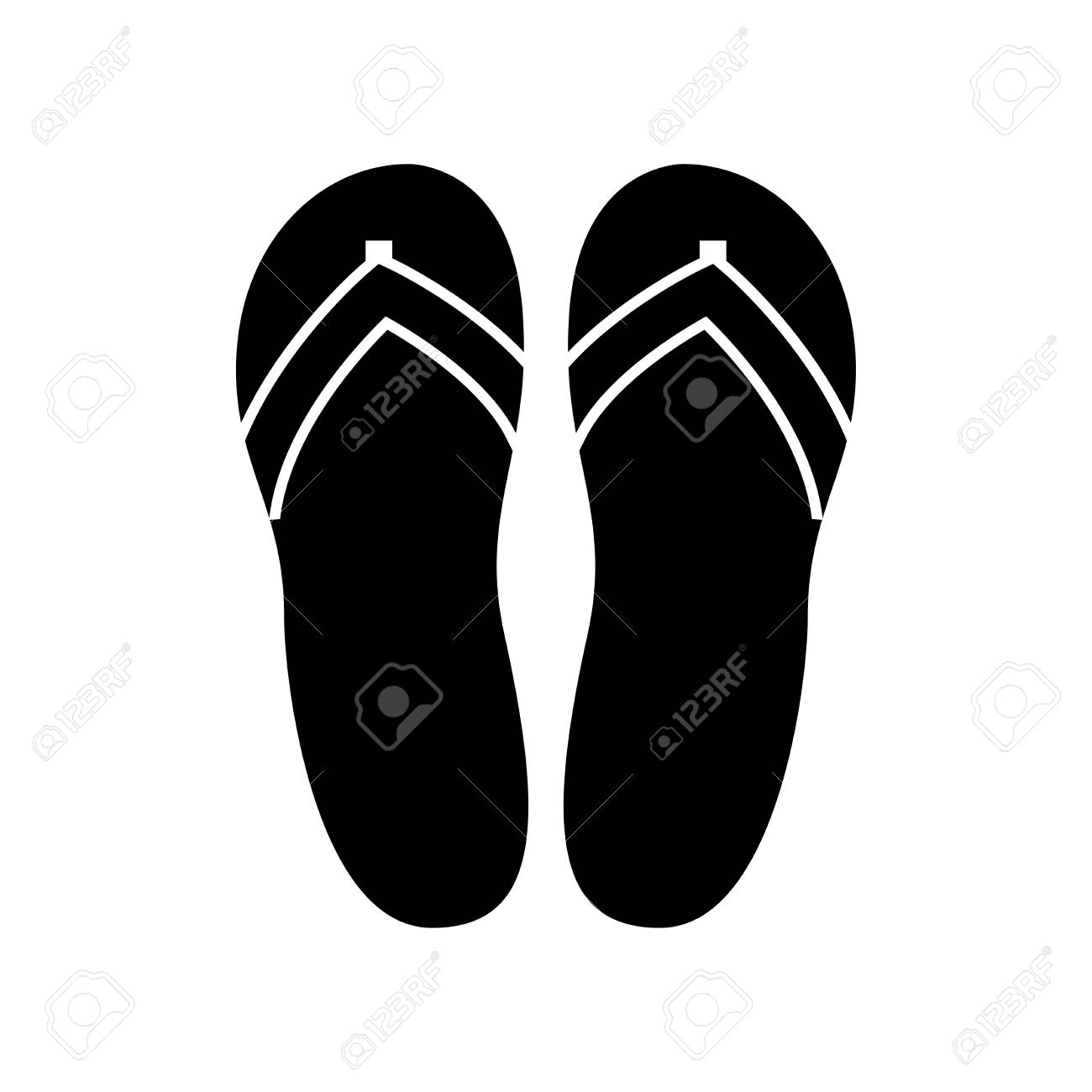 a9b7246be5155 Beach slippers Stock Vector - 87407684