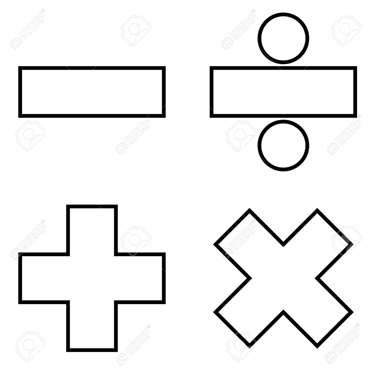 Math Signs Clipart Black And White