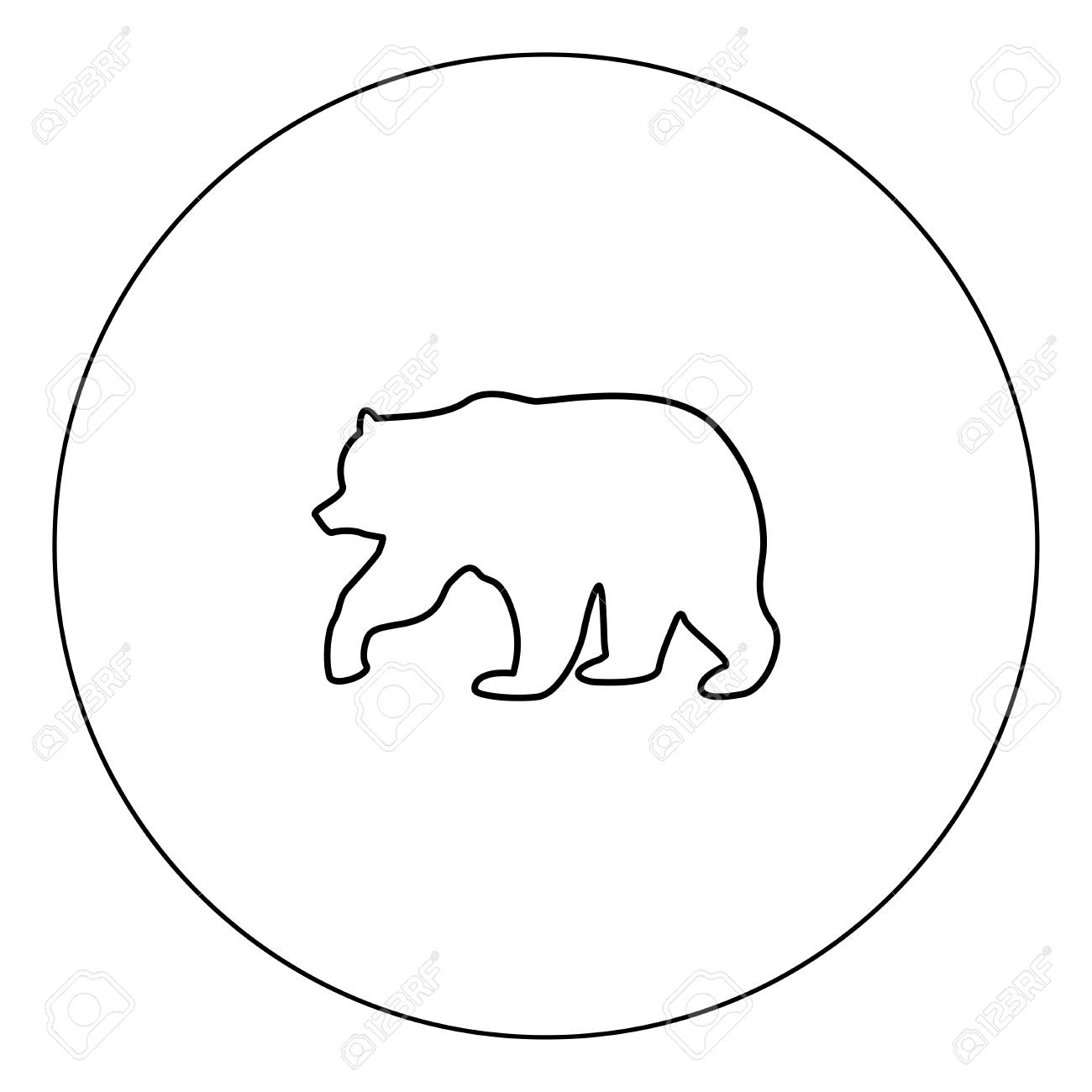bear icon black color in circle vector illustration isolated royalty free cliparts vectors and stock illustration image 102324674 bear icon black color in circle vector illustration isolated