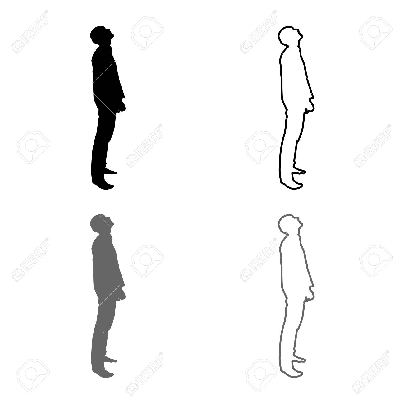 simple outline of a person