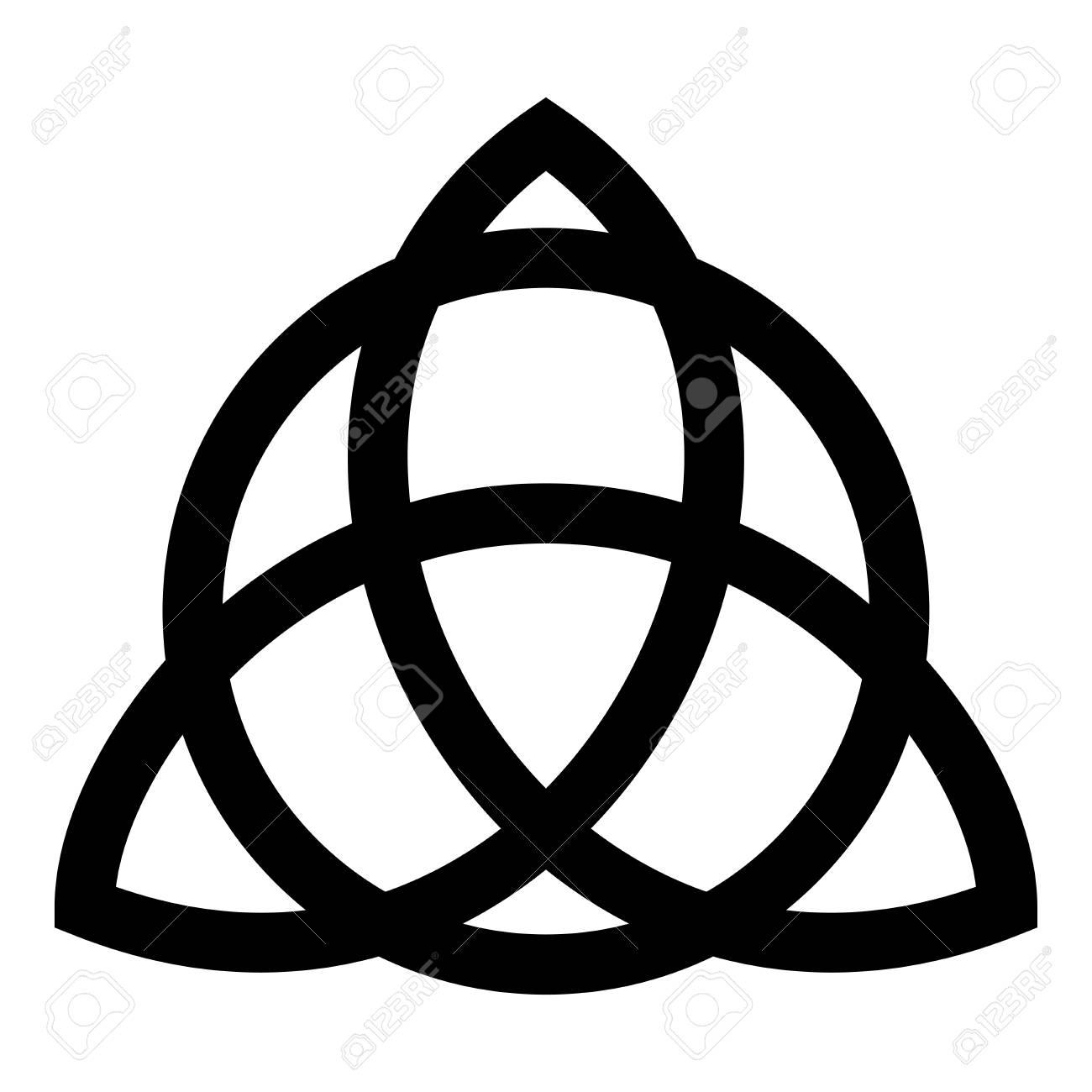 Trikvetr Knot With Circle Power Of Three Viking Symbol Tribal