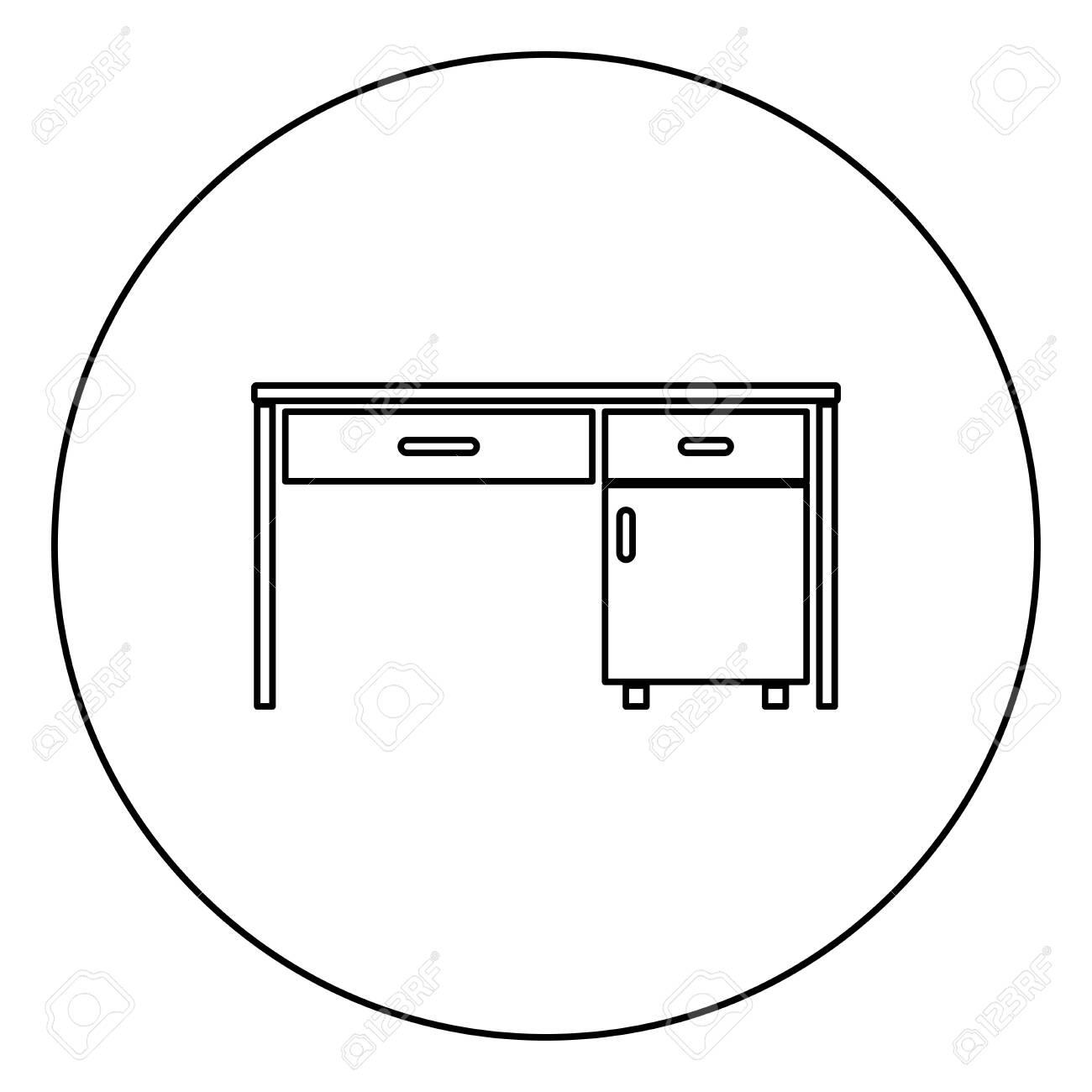 Desk Business Office Desk Written Table Workplace In Office Concept