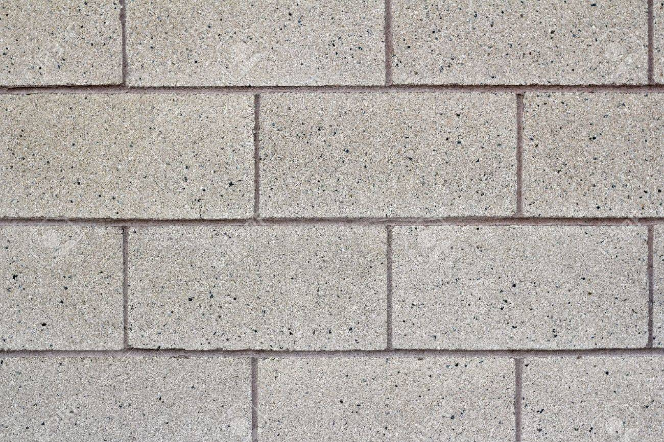 Close-up of a gray cinder block cement wall of a public school building. Stock Photo - 10367585