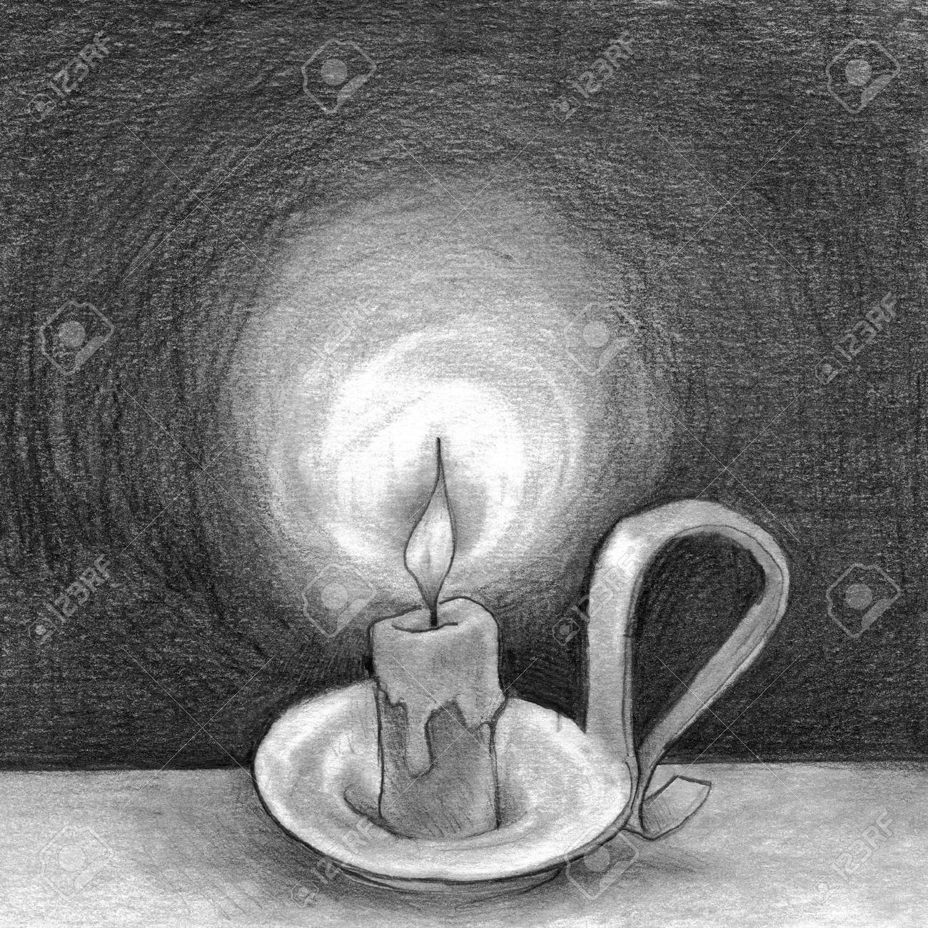 a candle flame lightly flickering Stock Photo - 18816000