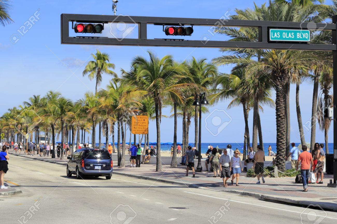 Fort Lauderdale Florida February 3 Las Olas Boulevard Has
