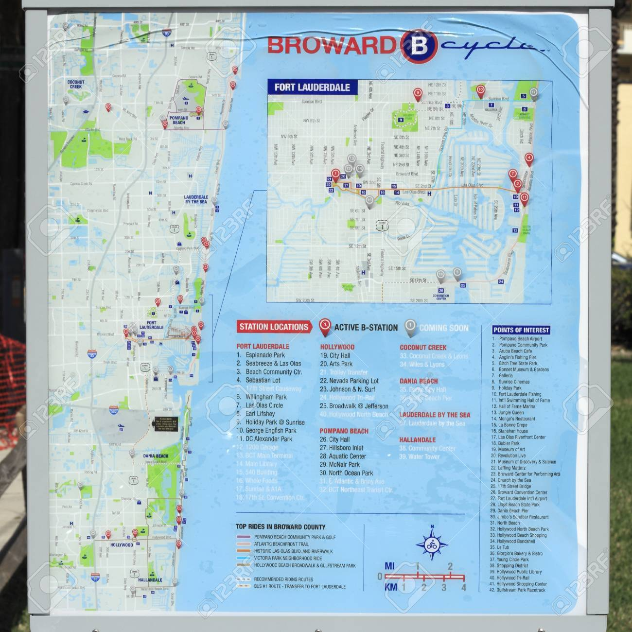 Map Of Fort Lauderdale Florida.Fort Lauderdale Florida February 3 2013 Map Of Current And
