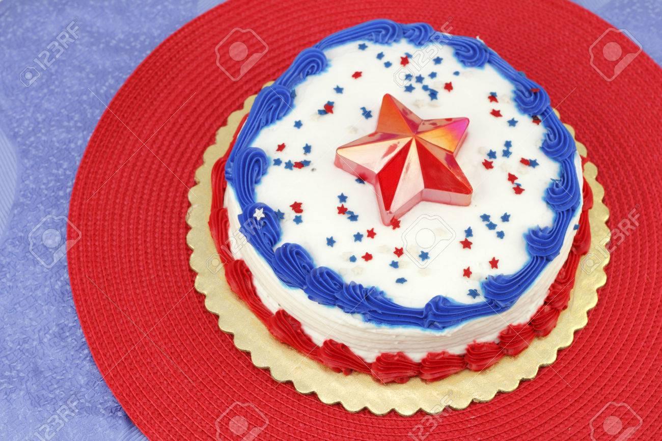 Ronda De Pastel De Vacaciones Día De La Independencia Decorado Con ...