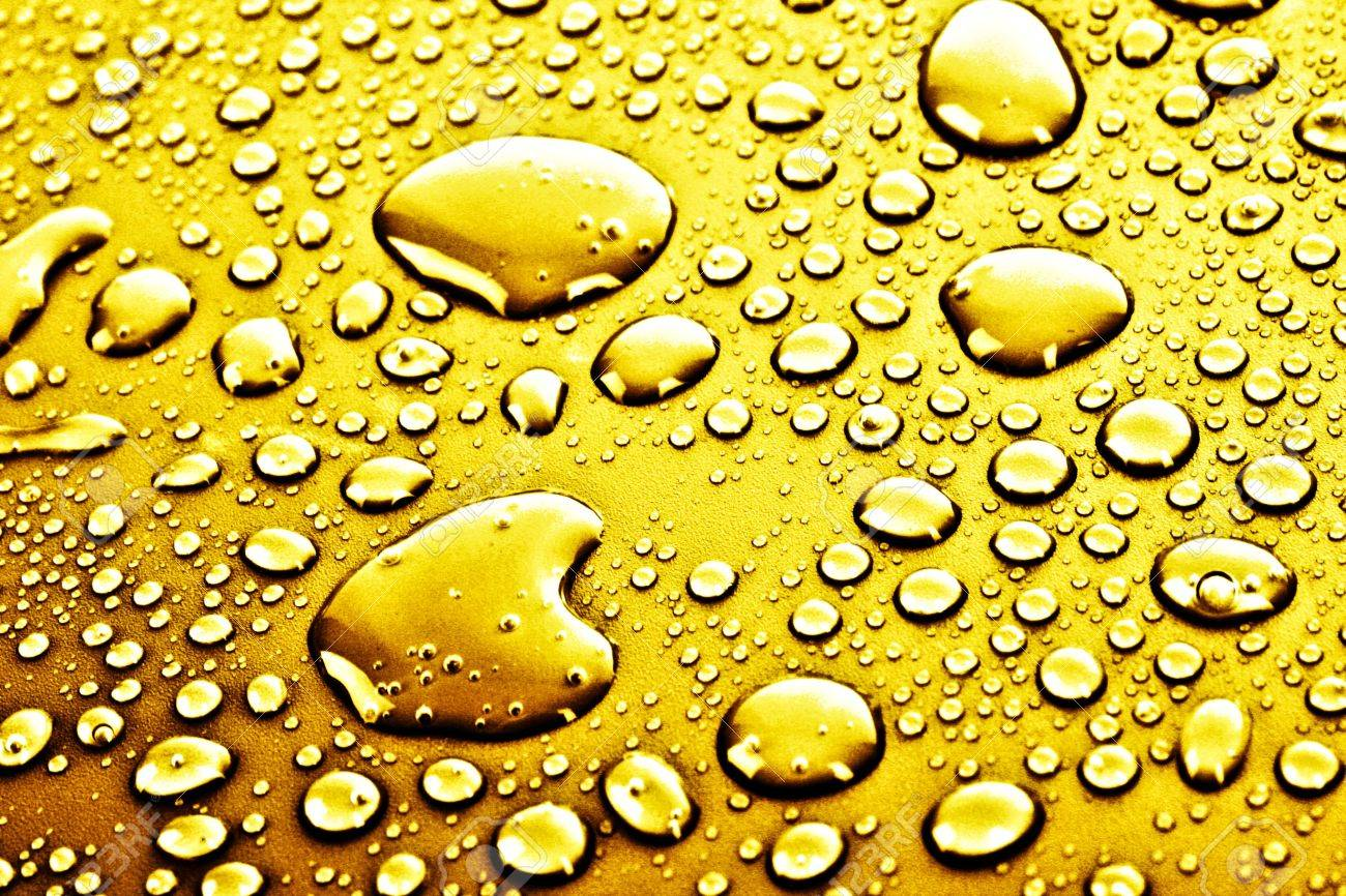 Gold Water Drops Background Stock Photo, Picture And Royalty Free ...