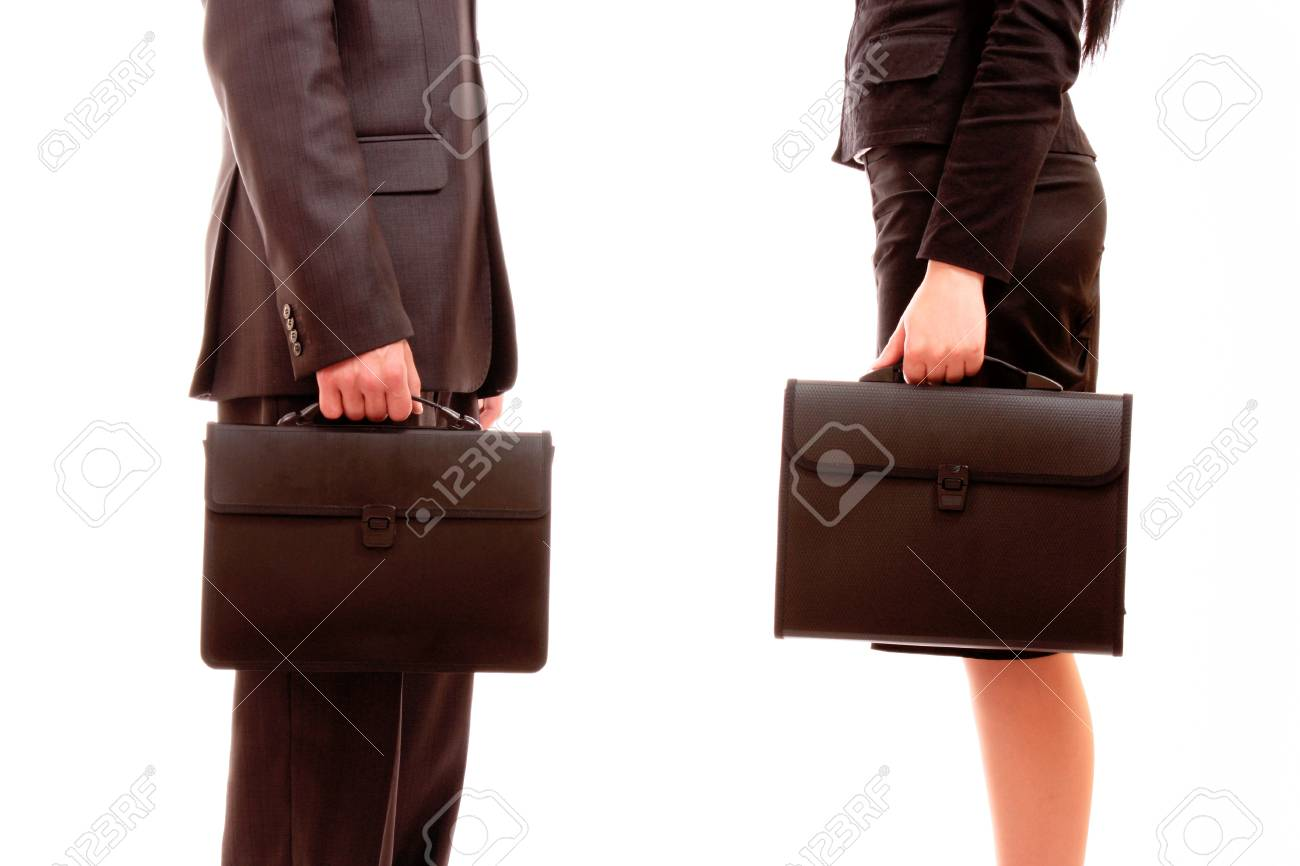 briefcase transfer isolated on white Stock Photo - 8914326