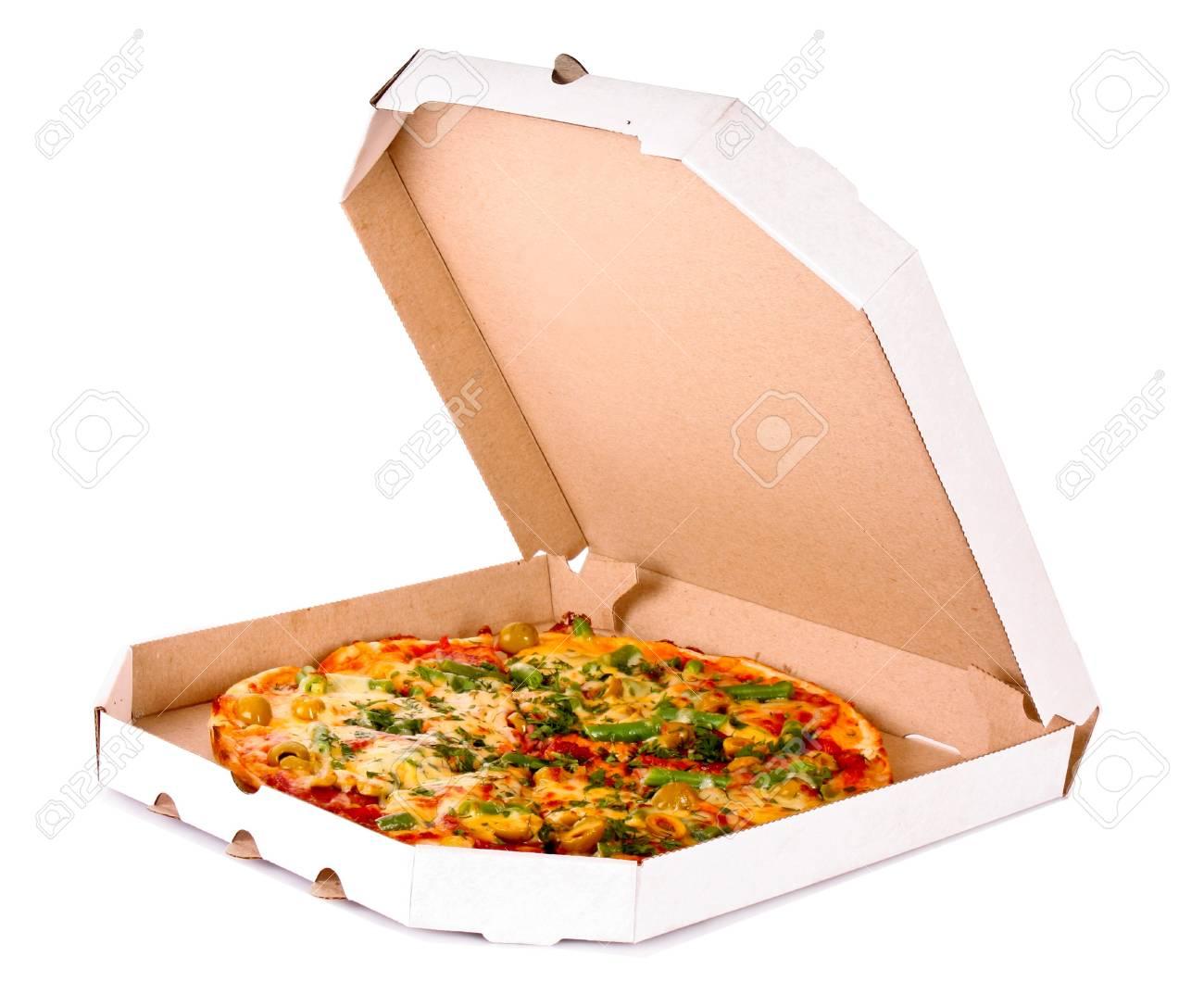 Tasty Italian pizza over white Stock Photo - 9133107