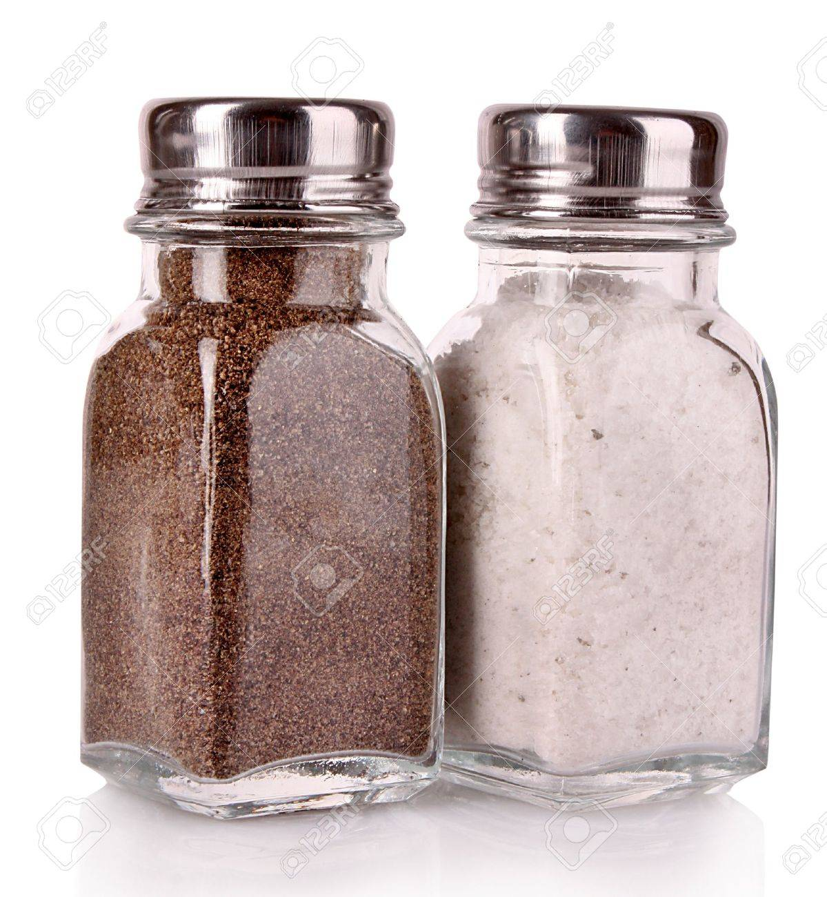 salt and pepper shaker on a white background stock photo picture  - salt and pepper shaker on a white background stock photo