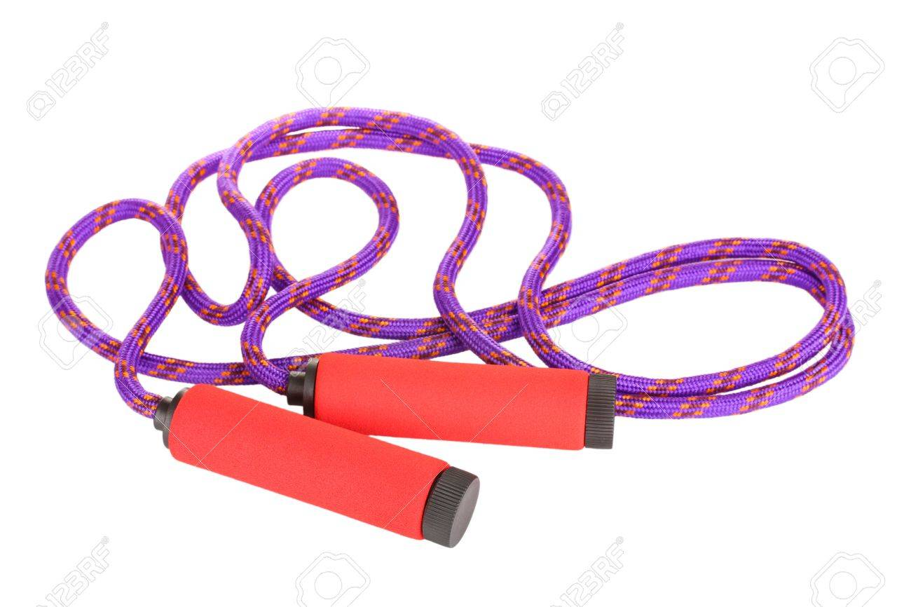 skipping rope isolated on white Stock Photo - 10293616