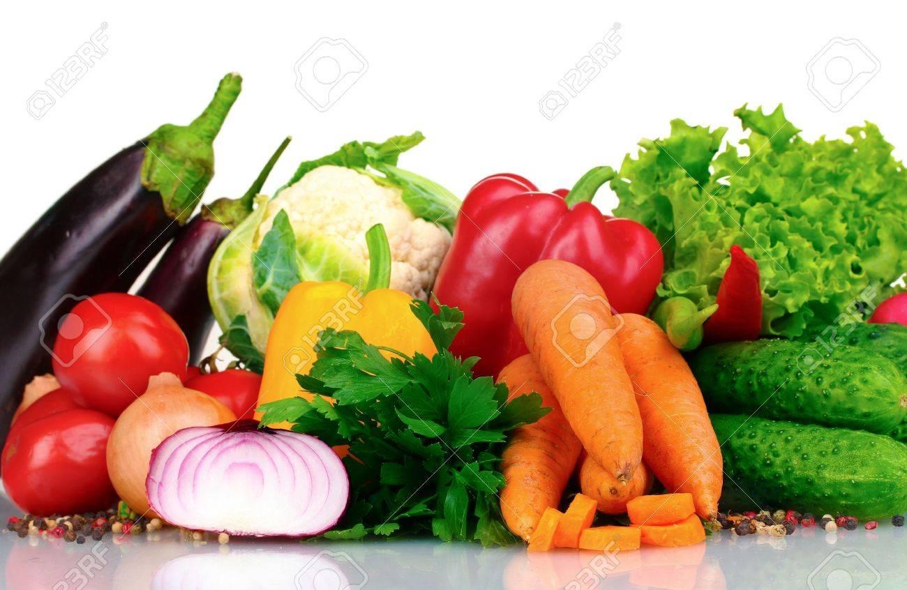 Fresh vegetables isolated on white Stock Photo - 10931160