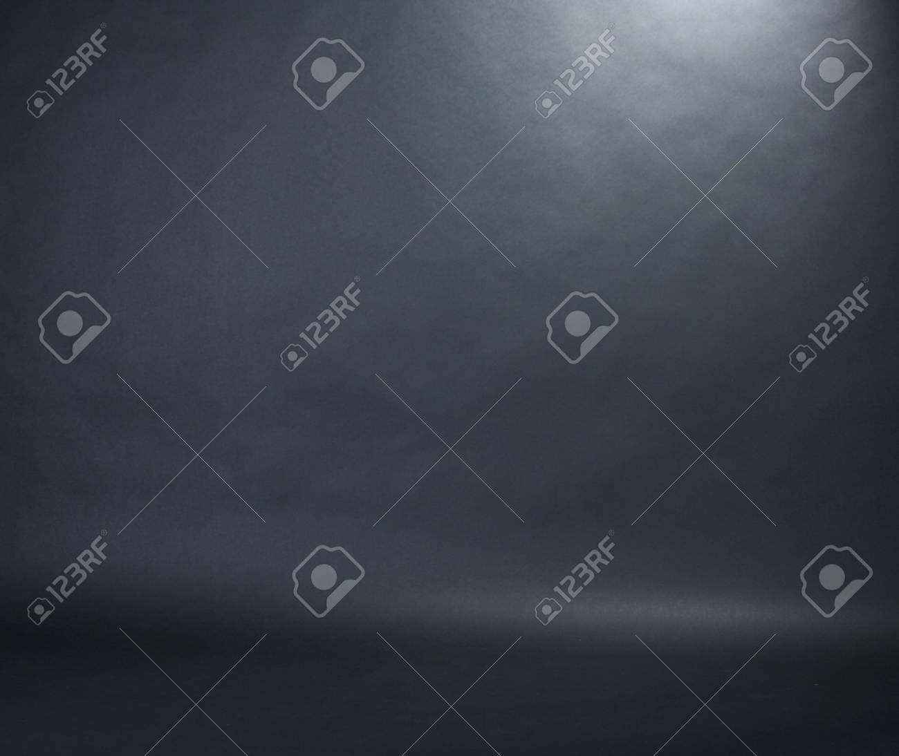 Spotlight studio interior, black background Stock Photo - 12091236