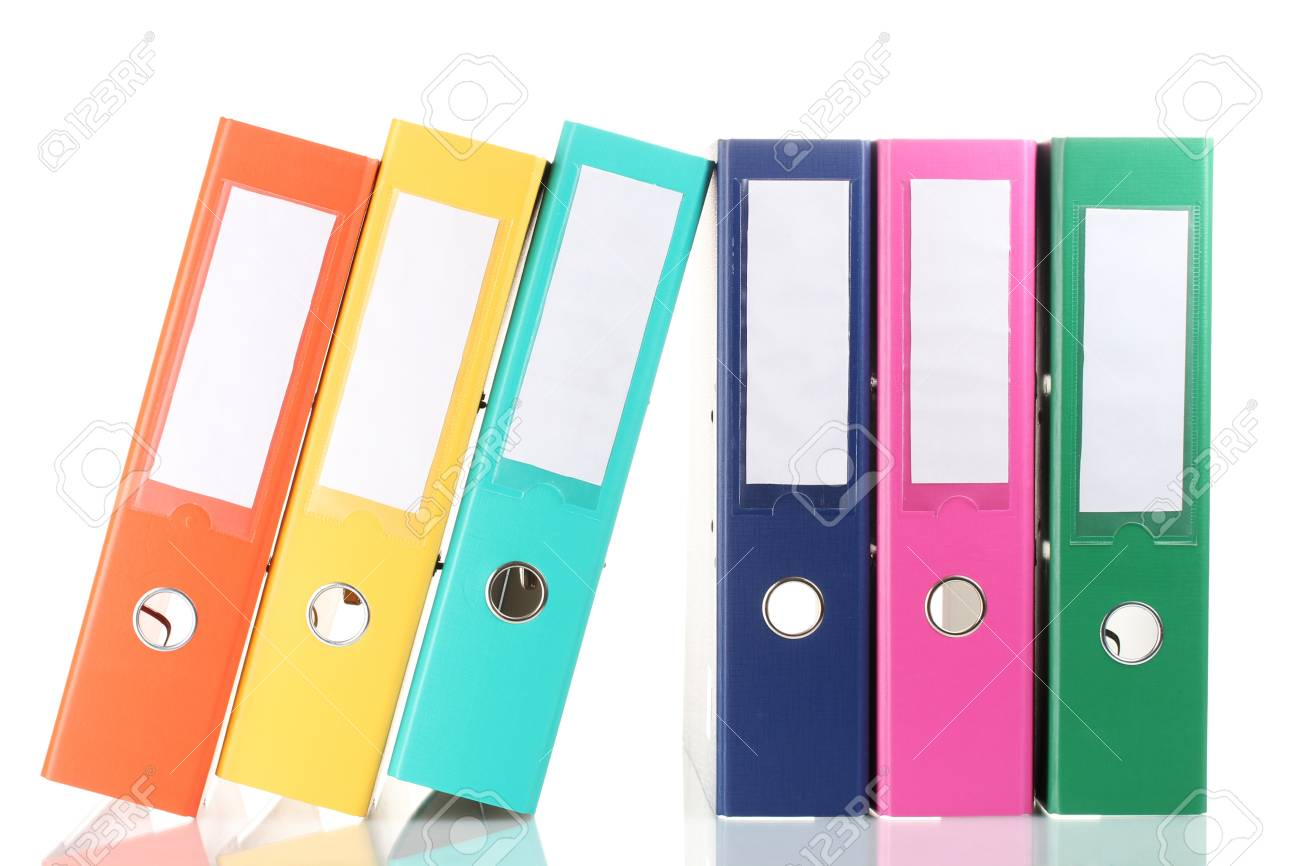 Office folders isolated on white Stock Photo - 12091966