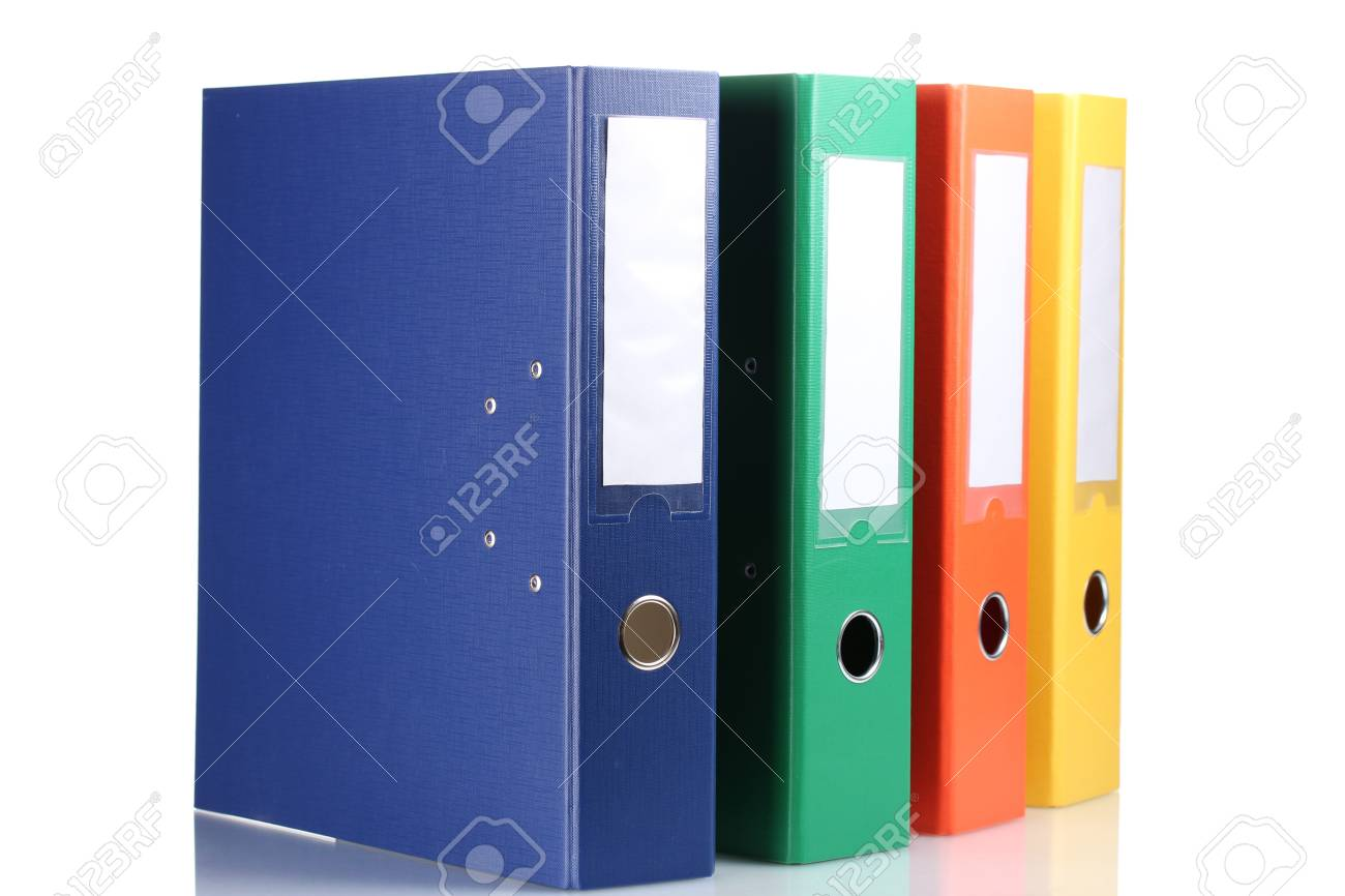 Office folders isolated on white Stock Photo - 12098443