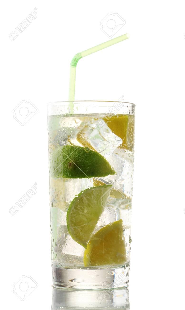 cold fresh lemonade isolated on white Stock Photo - 12664065