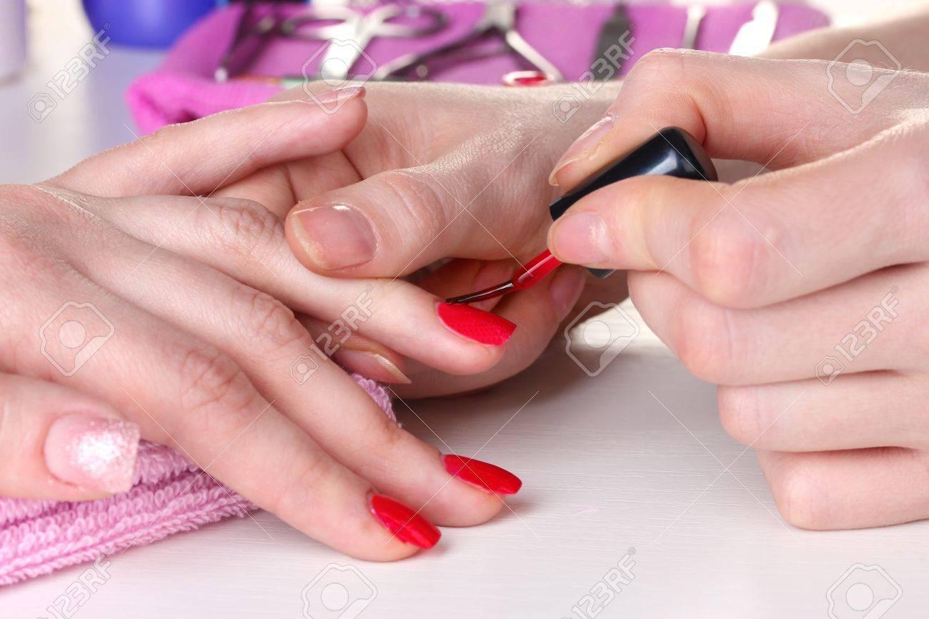 Manicure process in beautiful salon Stock Photo - 12664923