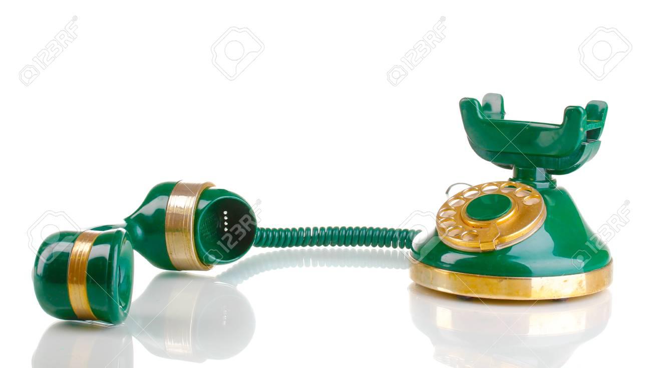 Retro phone isolated on white Stock Photo - 12849991