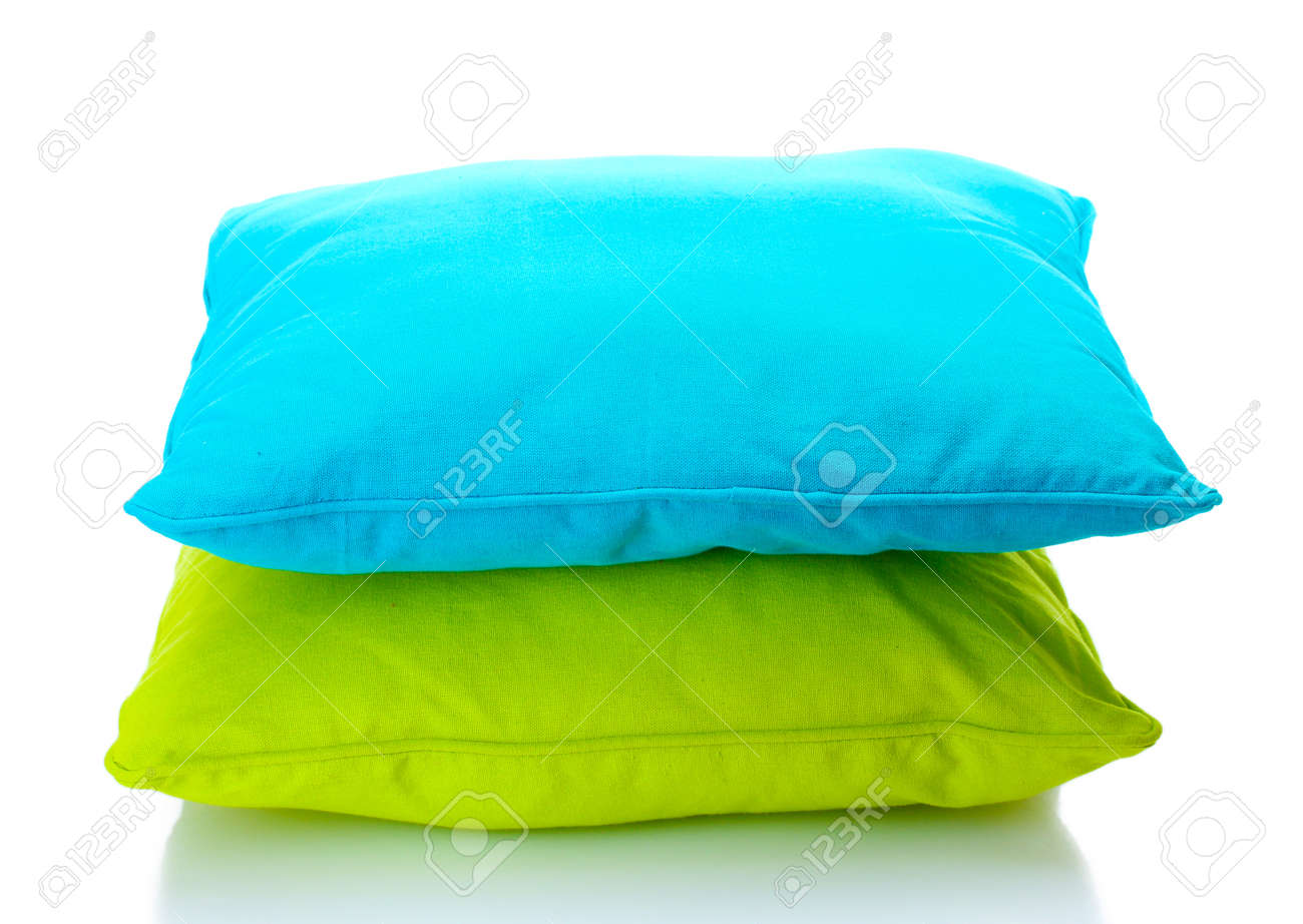 bright pillows isolated on white Stock Photo - 13085243