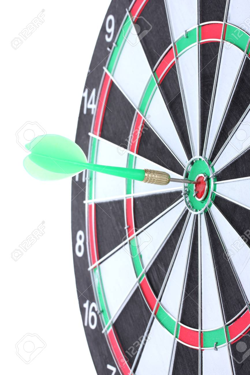 dart board isolated on white Stock Photo - 13085475