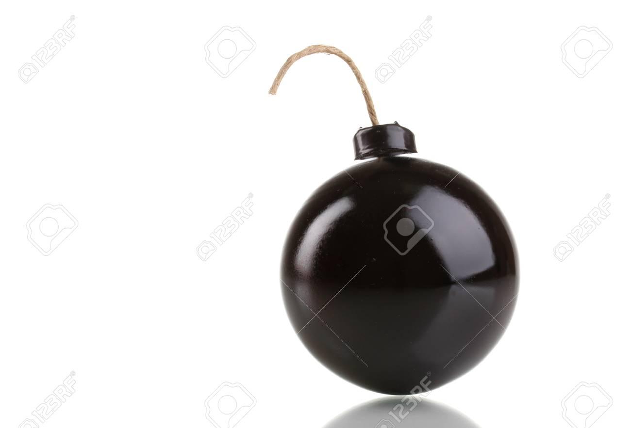 Cartoon style bomb isolated on white Stock Photo - 13435017