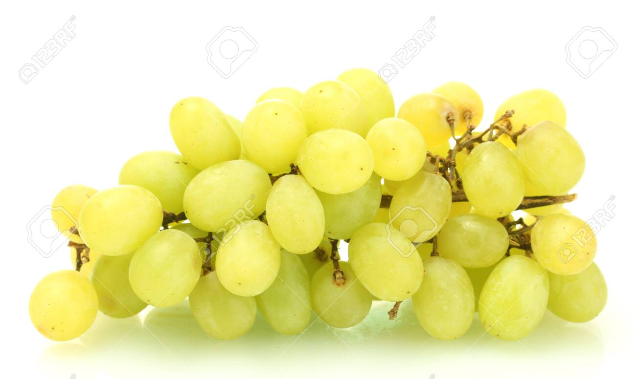ripe sweet grapes isolated on white Stock Photo - 14063733