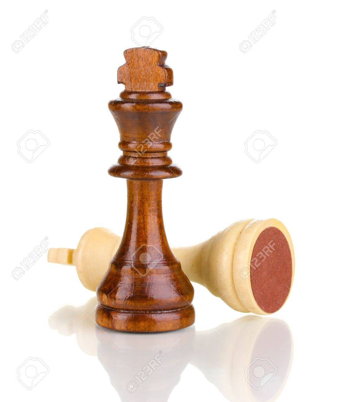 Chess pieces isolated on white Stock Photo - 14161901