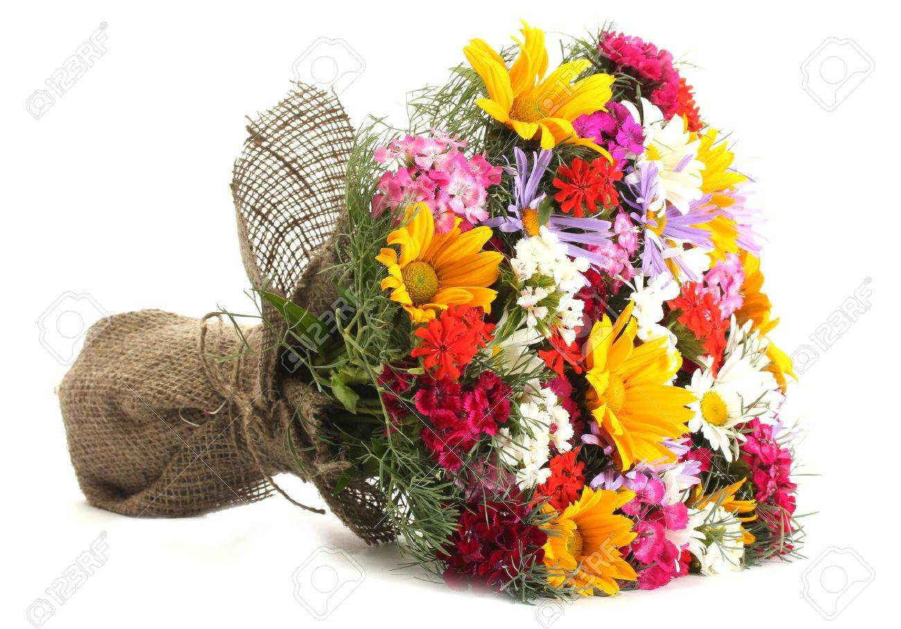 Bouquet stock photos royalty free bouquet images beautiful bouquet of bright wildflowers isolated on white stock photo izmirmasajfo