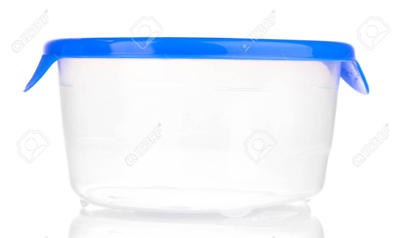 Plastic container for food isolated on white Stock Photo - 14436205