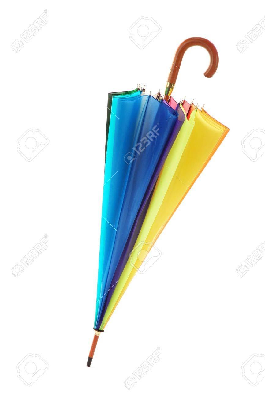 parapluie color isol sur blanc banque dimages 14539210 - Parapluie Color