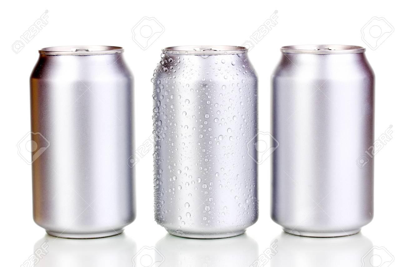 aluminum cans isolated on white Stock Photo - 15747025