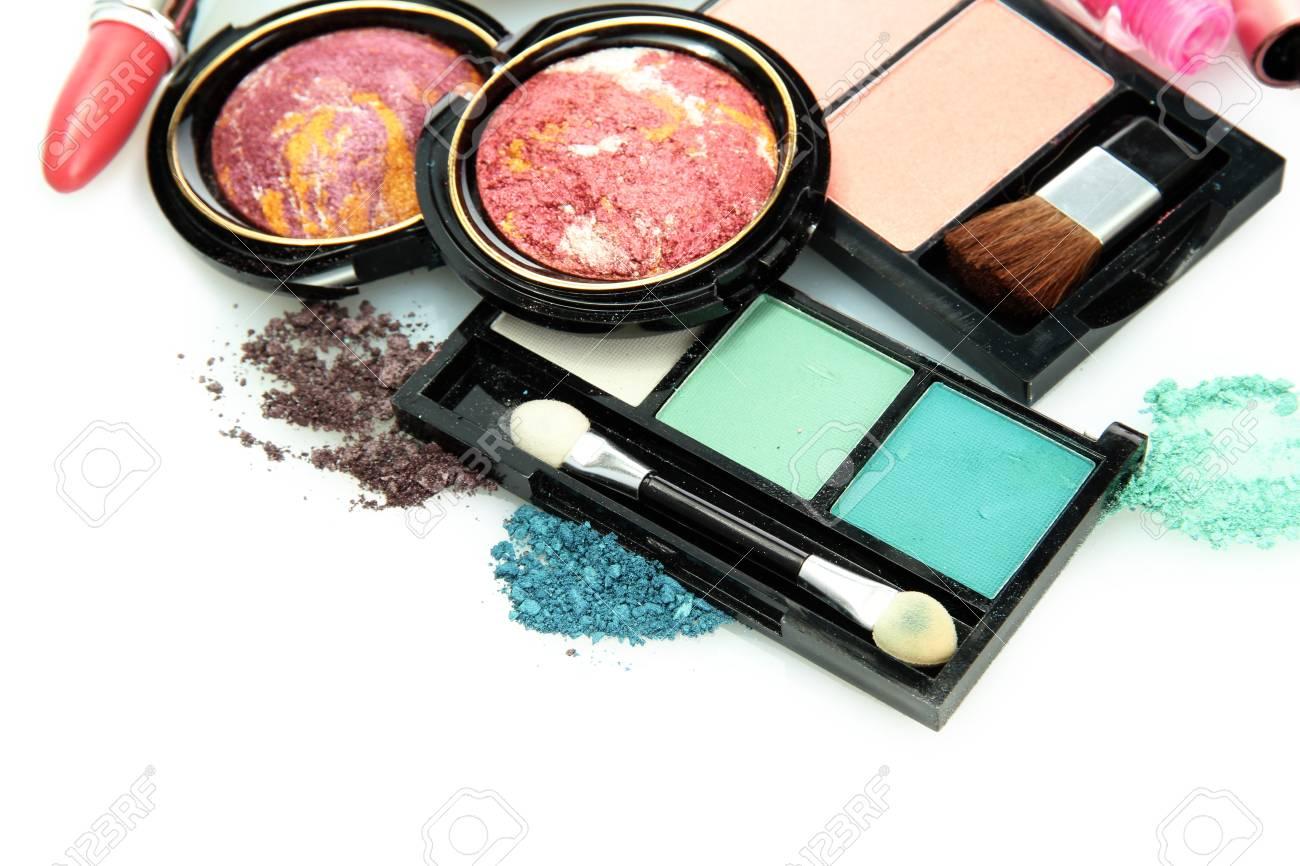 beautiful decorative cosmetics, isolated on white Stock Photo - 16413480