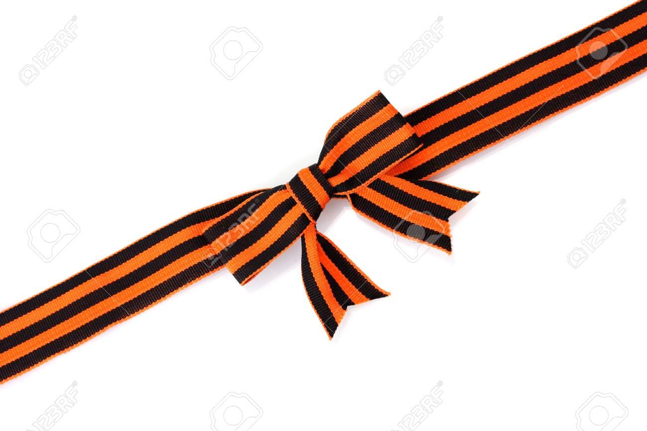 St. George ribbon isolated on white Stock Photo - 16495405