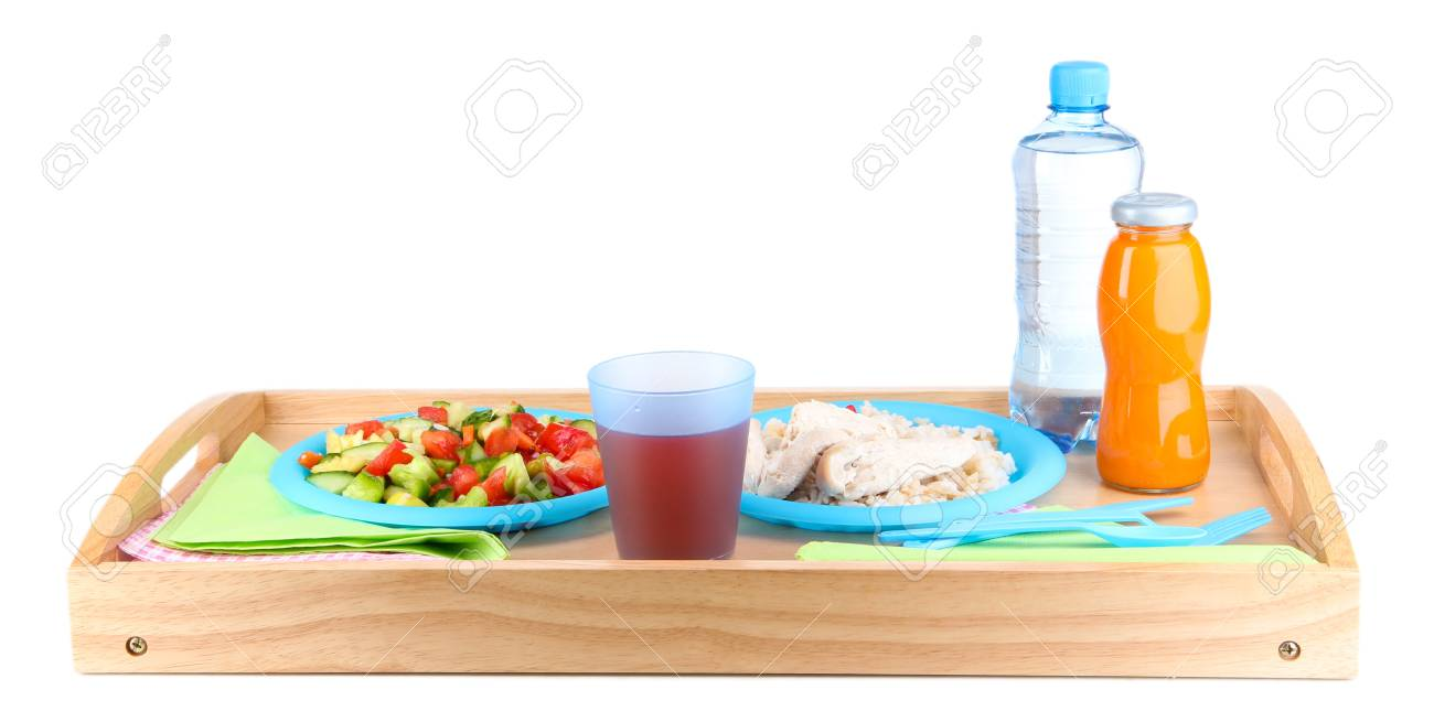 The food on plane isolated on white Stock Photo - 16865025