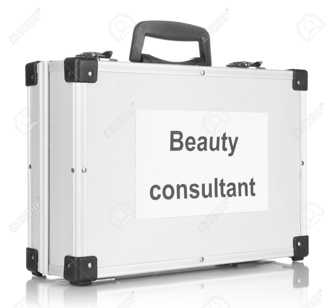 Silvery diplomat (suitcase) isolated on white Stock Photo - 17217063