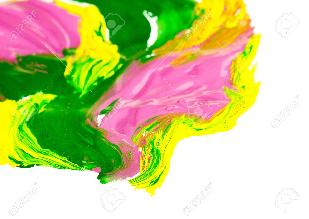 Color paint on white background Stock Photo - 18186888
