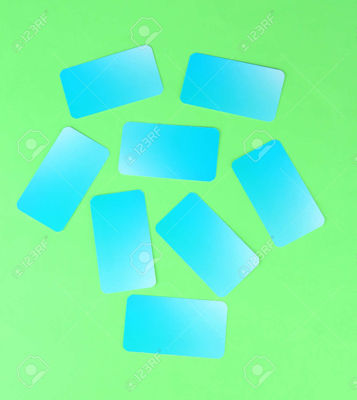 Business cards, on color background Stock Photo - 19041077