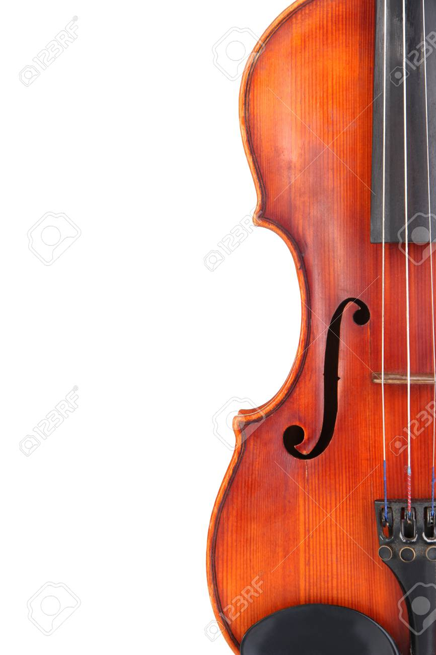 Classical violin isolated on white Stock Photo - 19301199