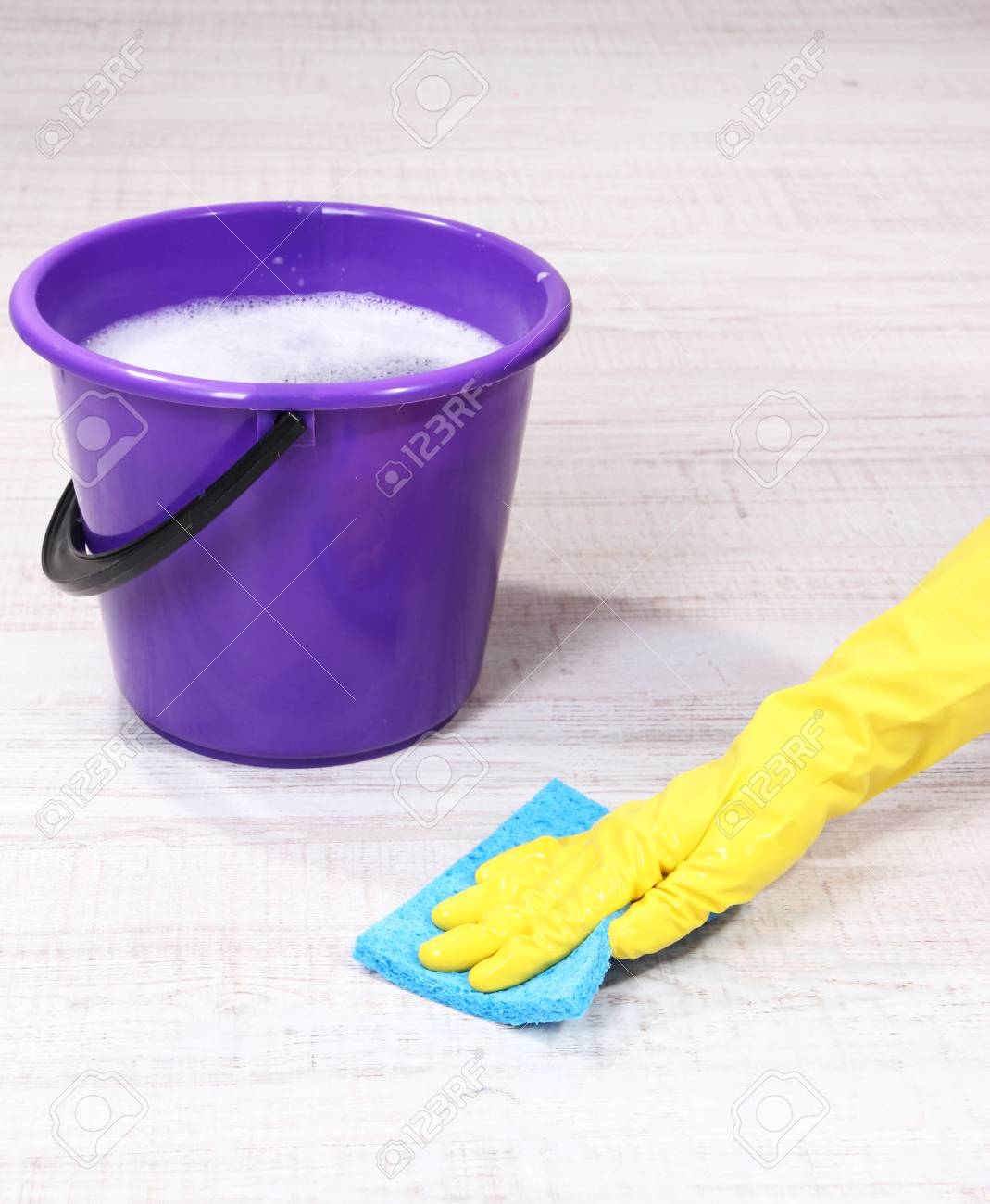 Washing the floor and all floor cleaning Stock Photo - 19972130